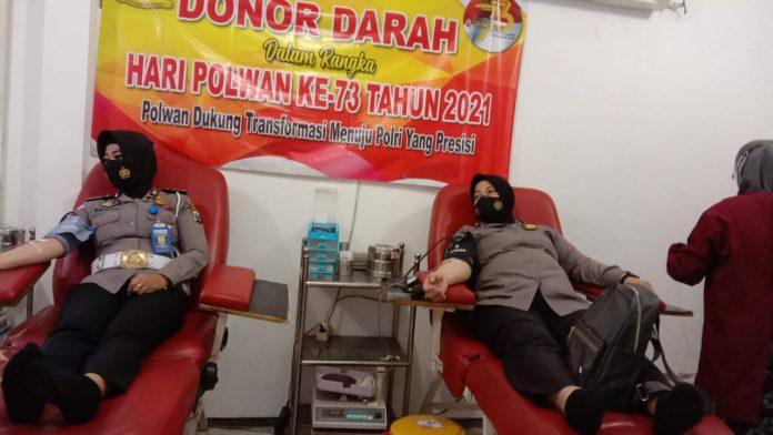 HUT Polwan RI Ke-73, Polres Sumenep Gelar Baksos Donor Darah